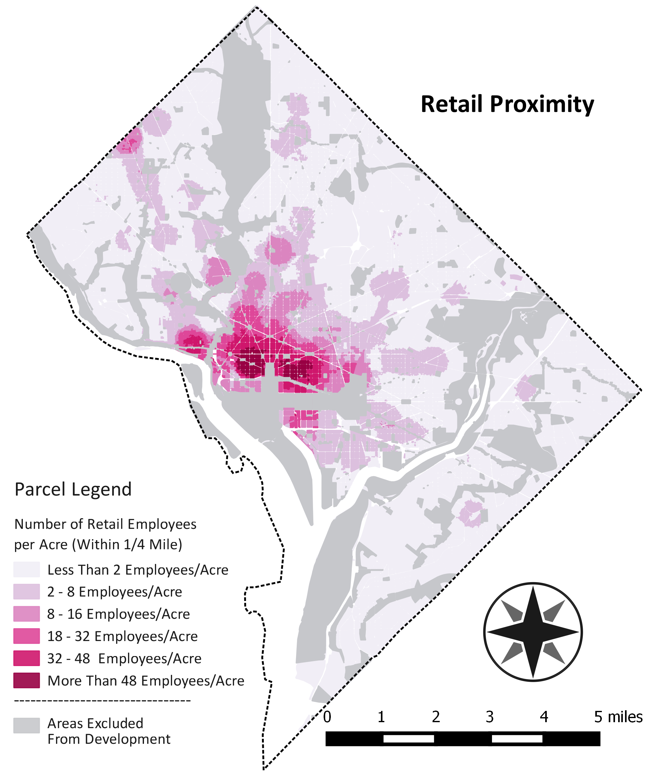 Map of Retail Proximity