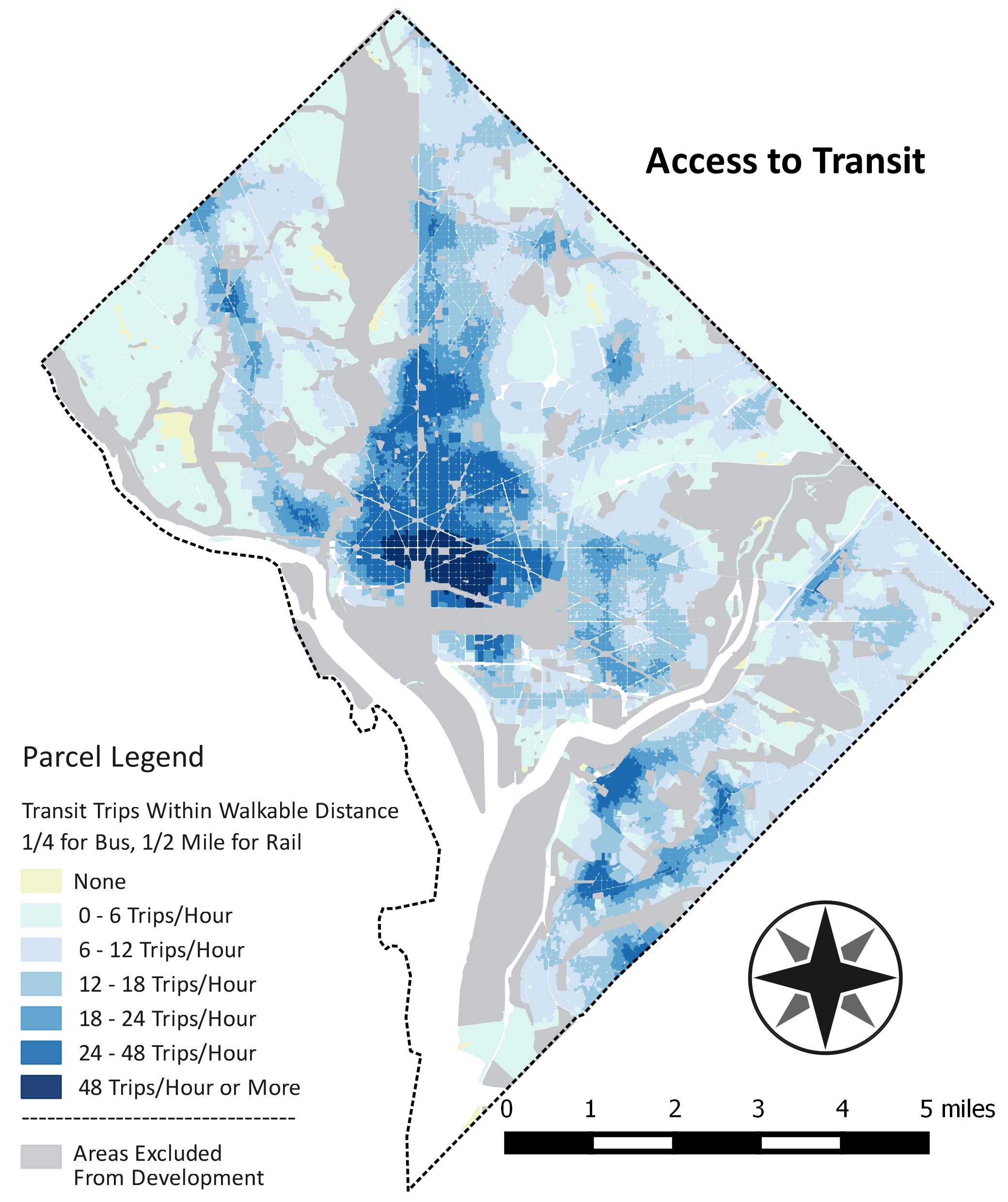 Map of Access to Transit